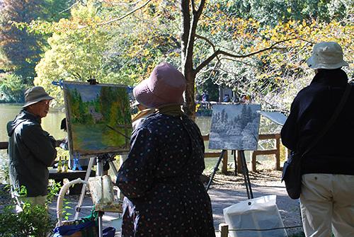 公園の画家1
