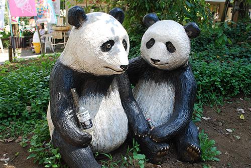 井の頭公園のパンダ