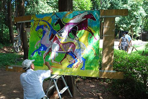 井の頭公園の中の美術家1