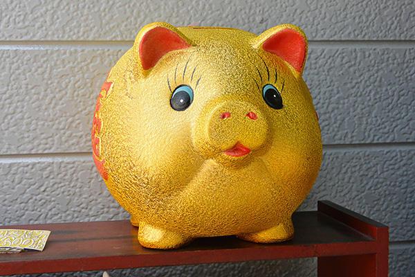 豚の貯金箱1